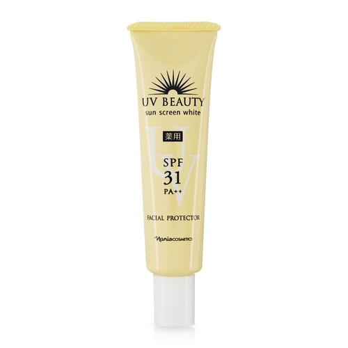 Sữa Chống Nắng Bảo Vệ Da Mặt Naris Uv Beauty Sun Screen White Facial Protector Spf31 Pa++