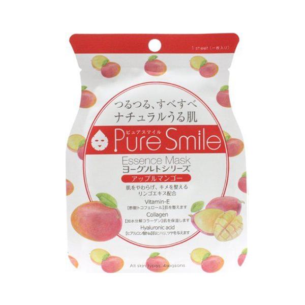Pure Smile Essence Mask Apple Mango Yoghurt - Mặt Nạ Dưỡng Da Với Chiết Xuất Từ Sữa Chua, Xoài Tím