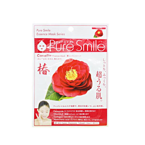 Pure Smile Essence Mask Camellia - Mặt Nạ Dưỡng Sáng Da Chiết Xuất Từ Hoa Trà Nhật Bản