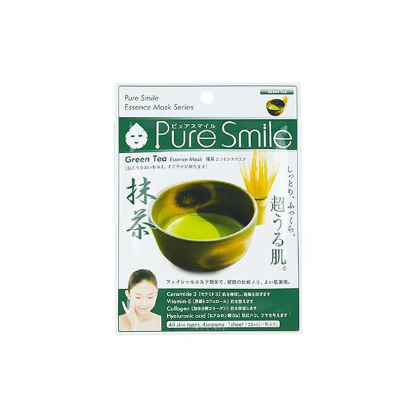 Pure Smile Essence Mask Green Tea - Mặt Nạ Dưỡng Trắng Da Với Chiết Xuất Từ Trà Xanh