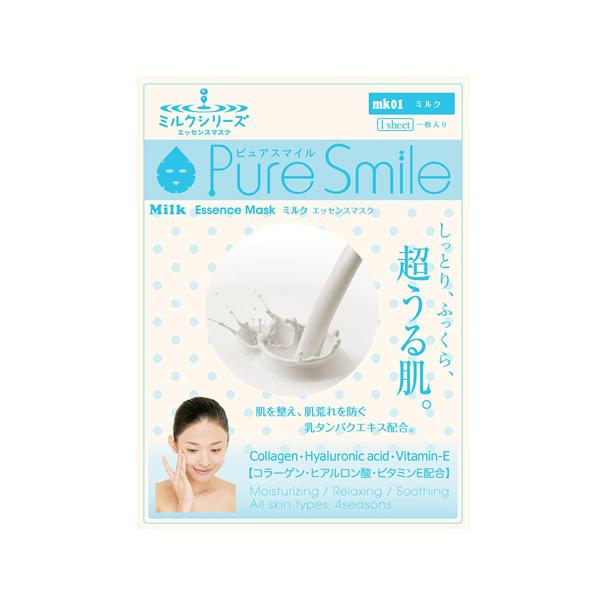 Pure Smile Essence Mask Milk - Mặt Nạ Dưỡng Da Chiết Xuất Từ Sữa Tươi