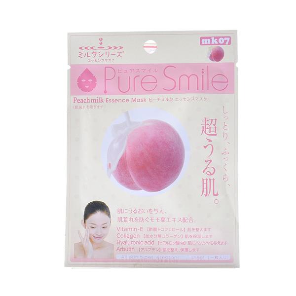 Pure Smile Essence Mask Peach Milk - Mặt Nạ Dưỡng Da Với Chiết Xuất Từ Sữa Tươi , Đào