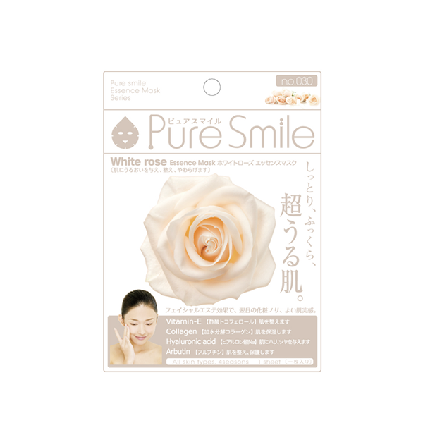 Pure Smile Essence Mask White Rose - Mặt Nạ Dưỡng Da Với Chiết Xuất Từ Hoa Hồng Trắng
