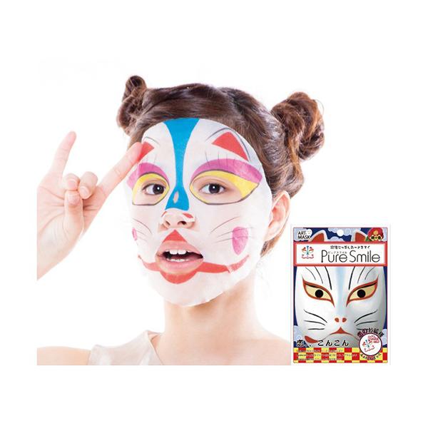 Pure Smile Nippon Art Mask Koinookitsunesama - Mặt Nạ Dưỡng Sáng Da Chiết Xuất Từ Hoa Trà Nhật Bản, Cây Phỉ