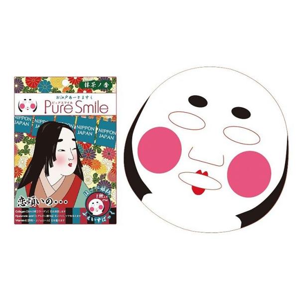 Pure Smile Oedo Art Mask Hoppehime - Mặt Nạ Dưỡng Trắng Da Với Chiết Xuất Từ Tinh Chất Trà Xanh