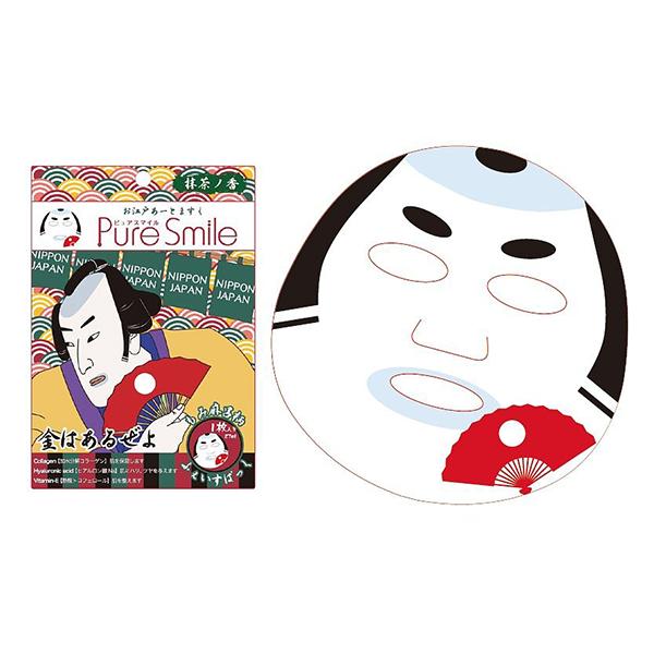 Pure Smile Oedo Art Mask Momimaro - Mặt Nạ Dưỡng Trắng Da Với Chiết Xuất Từ Tinh Chất Trà Xanh, Rau Sam, Cây Phỉ